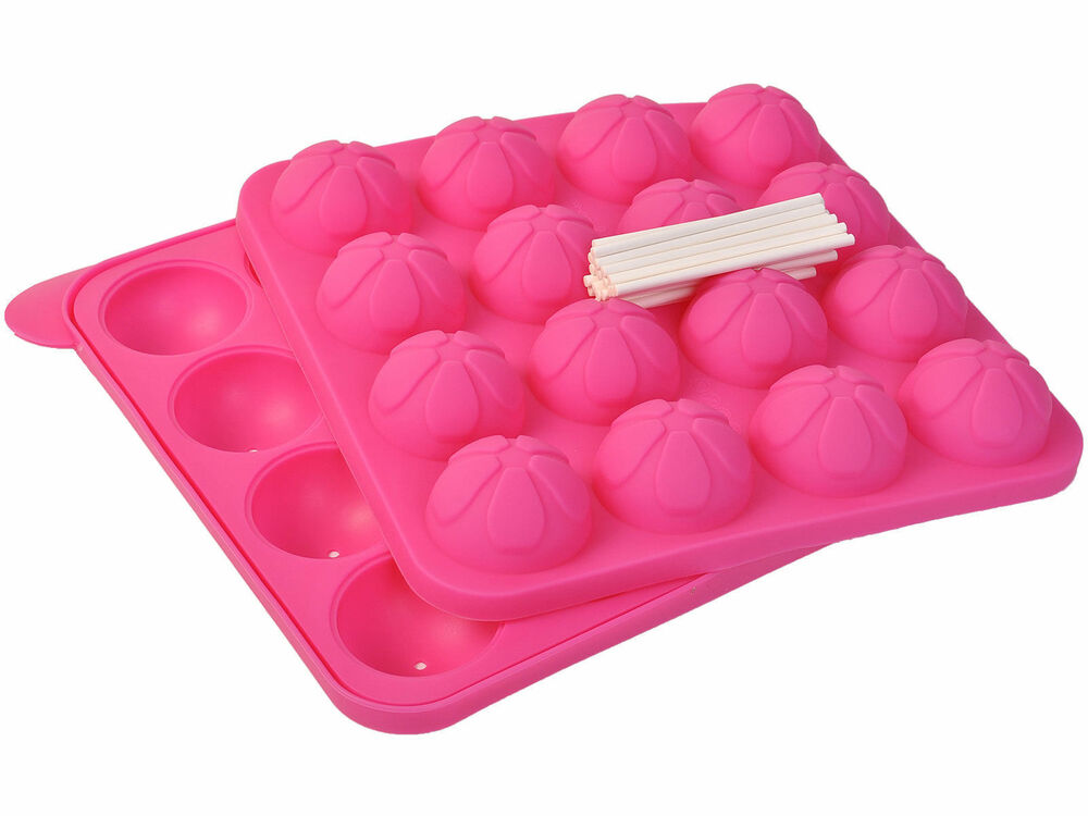 New Cake Pop Tasty Top Mold Tray Silicone Baking Flex Pan