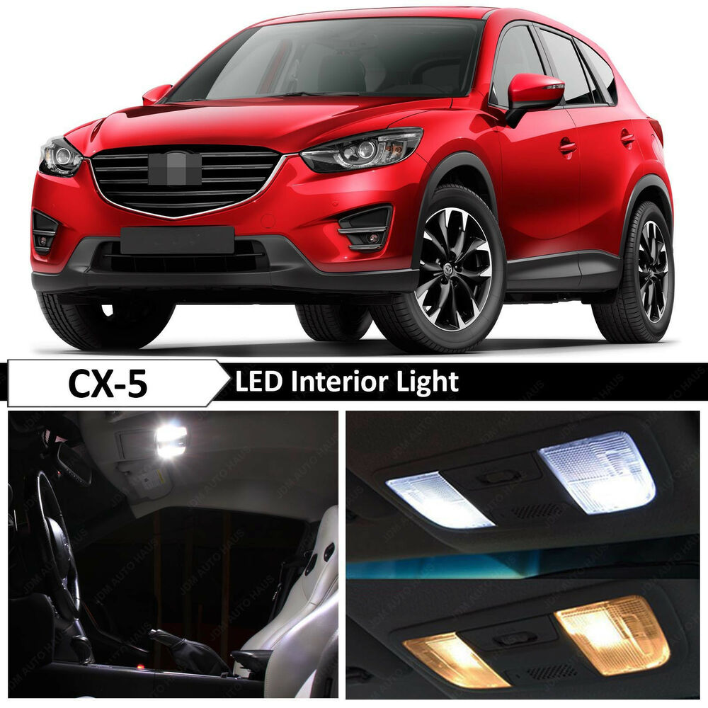 11x white interior led light package kit for 2013 2016 mazda cx5 cx 5 tool ebay. Black Bedroom Furniture Sets. Home Design Ideas