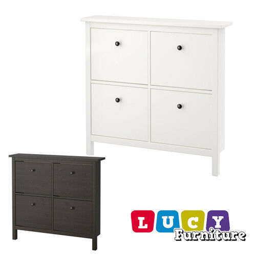 Ikea Hemnes Shoe Cabinet With 4 Compartments Shoe Storage