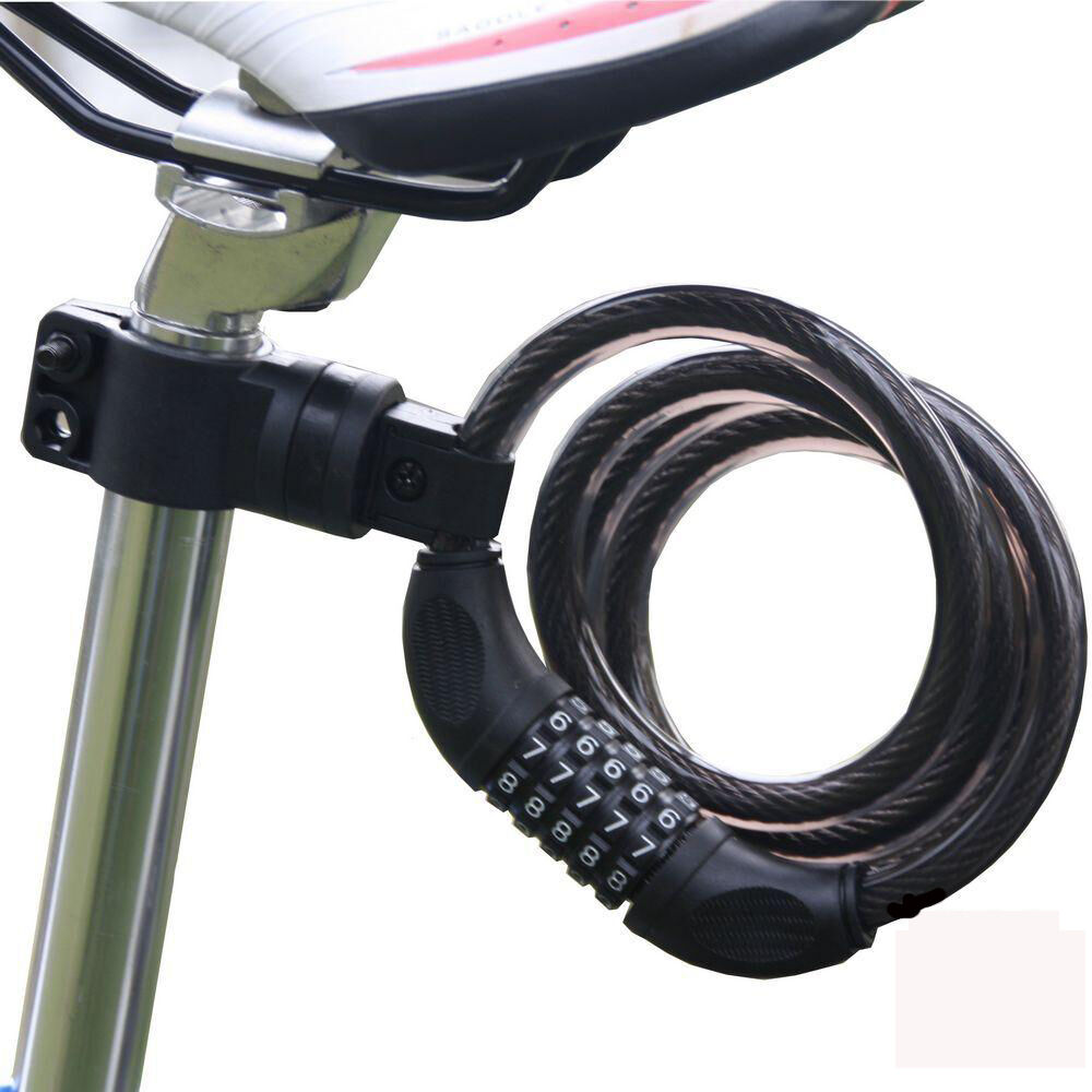 Cycling security 4 digit combination password bike bicycle cable chain lockES
