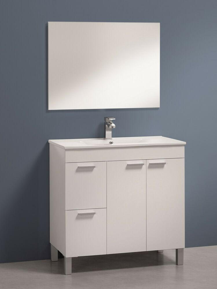 Ebay Bathroom Vanity With Sink: Baltic Bathroom Vanity Base Unit With Mirror High Gloss
