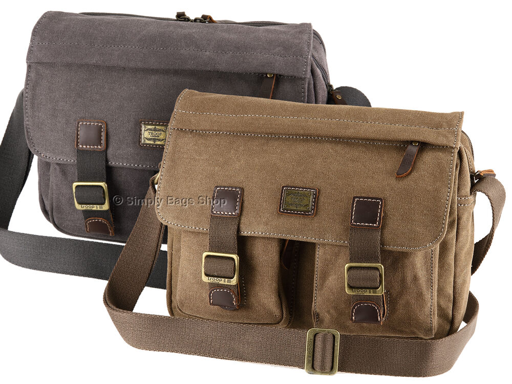 Troop London Canvas Messenger Shoulder Bag 7
