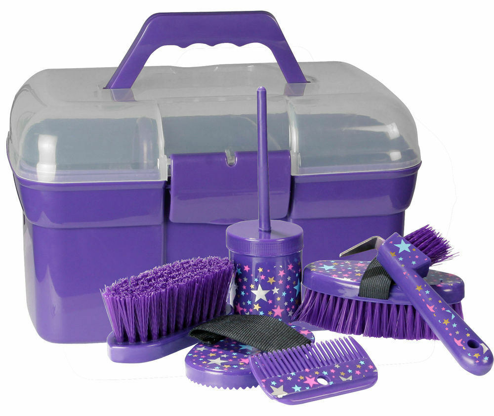 Bentley Slip Not Hoof Brush Pink At Burnhills: PFIFF Full Horse Pony Grooming Kit/Box Brush/Comb/Hoof