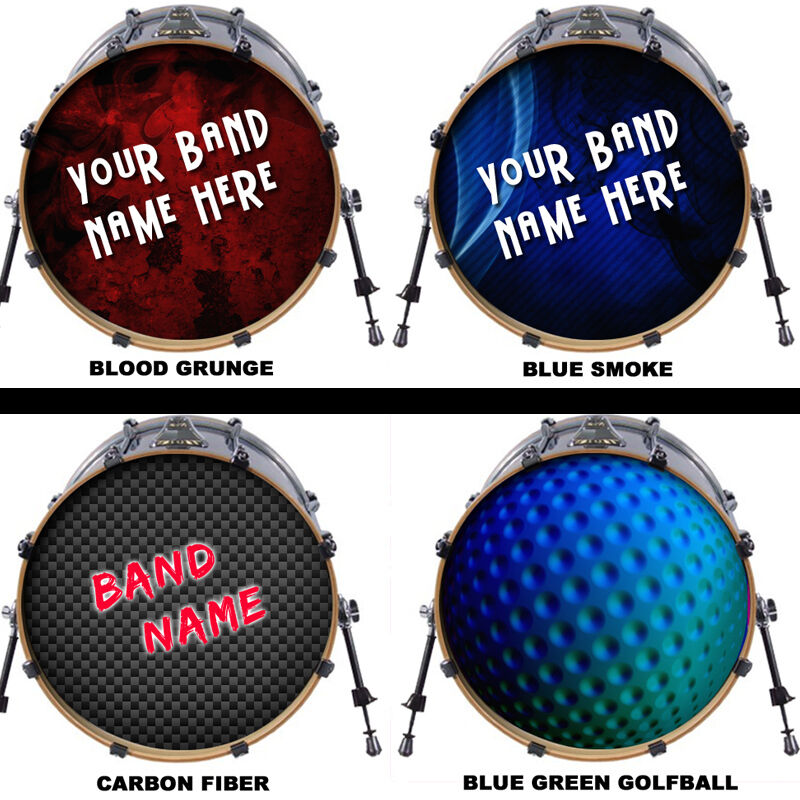 custom bass drum head decal sticker vinyl kick skin 14 16 18 20 22 24 26 ebay. Black Bedroom Furniture Sets. Home Design Ideas