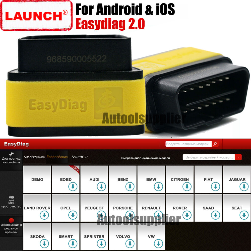 Launch x431 easydiag 2 0 obdii bluebooth code reader for for Ebay motors app android