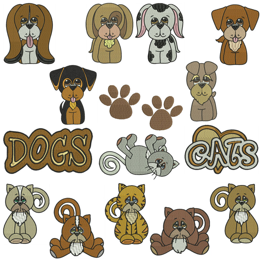 Free Dog Machine Embroidery Designs