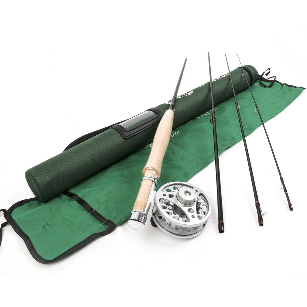 Fly rod 6 6ft 2weight 4section medium fast fly fishing rod for Fly fishing combo kit