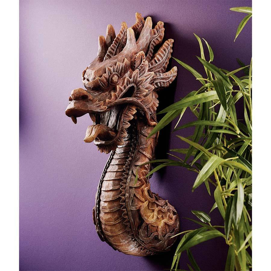 The Fire Dragon Wall Sculpture Gothic Home Decor Indoor