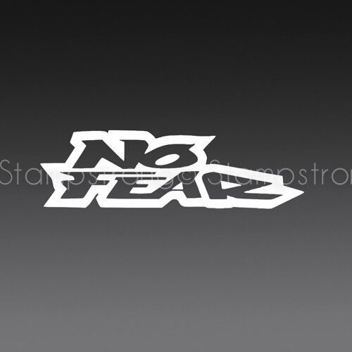 8 inch no fear letters vinyl decal sticker die cut moto for Die cut vinyl letters