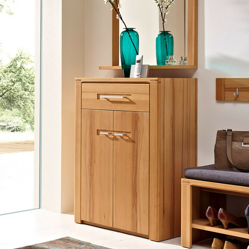 schuhschrank nature plus flurm bel garderobe schrank kernbuche massiv ebay. Black Bedroom Furniture Sets. Home Design Ideas