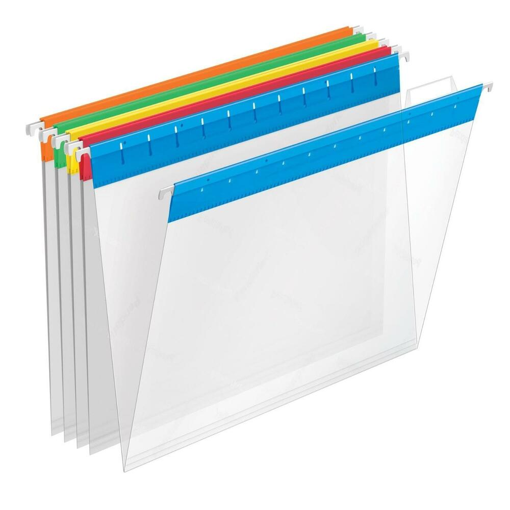 Hanging File Folders Letter Size Tab 25 Per Box Clear