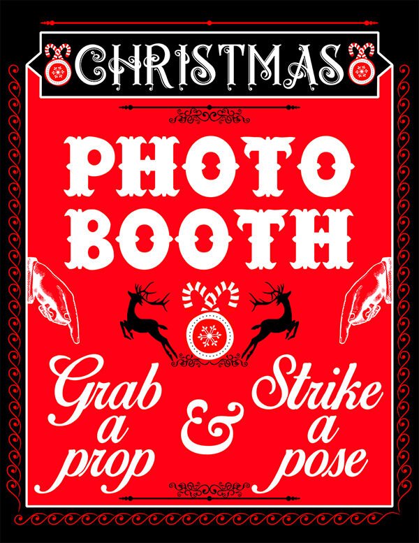 diy digital christmas photo booth sign props no physical item