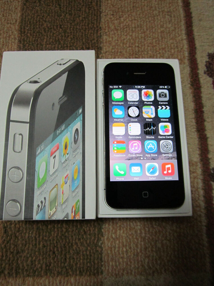 iphone 4s tmobile iphone 4s 16gb black factory unlocked work w att tmobile 10934