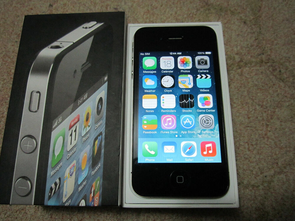 t mobile iphone 4 apple iphone 4 32gb black factory unlocked 1637
