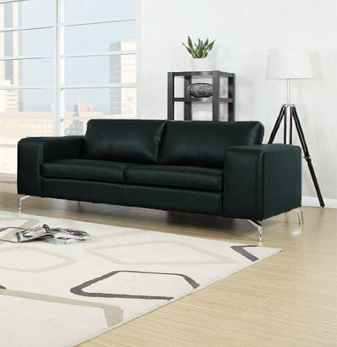 madison couch 2er sofa wohnlandschaft garnitur wohnzimmer kunstleder schwarz ebay. Black Bedroom Furniture Sets. Home Design Ideas