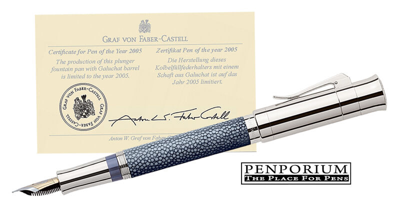 FABER CASTELL PEN OF THE YEAR 2005 STINGRAY LEATHER ANTHRACITE ...