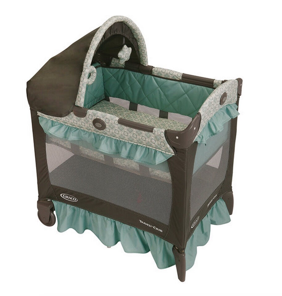 Portable baby crib travel bassinet infant playpen graco for Portable bassinet