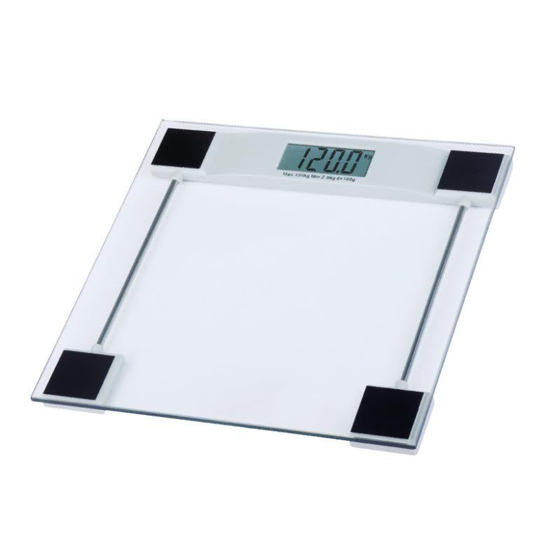 150kg digital scales electronic lcd bathroom weighing scale glass