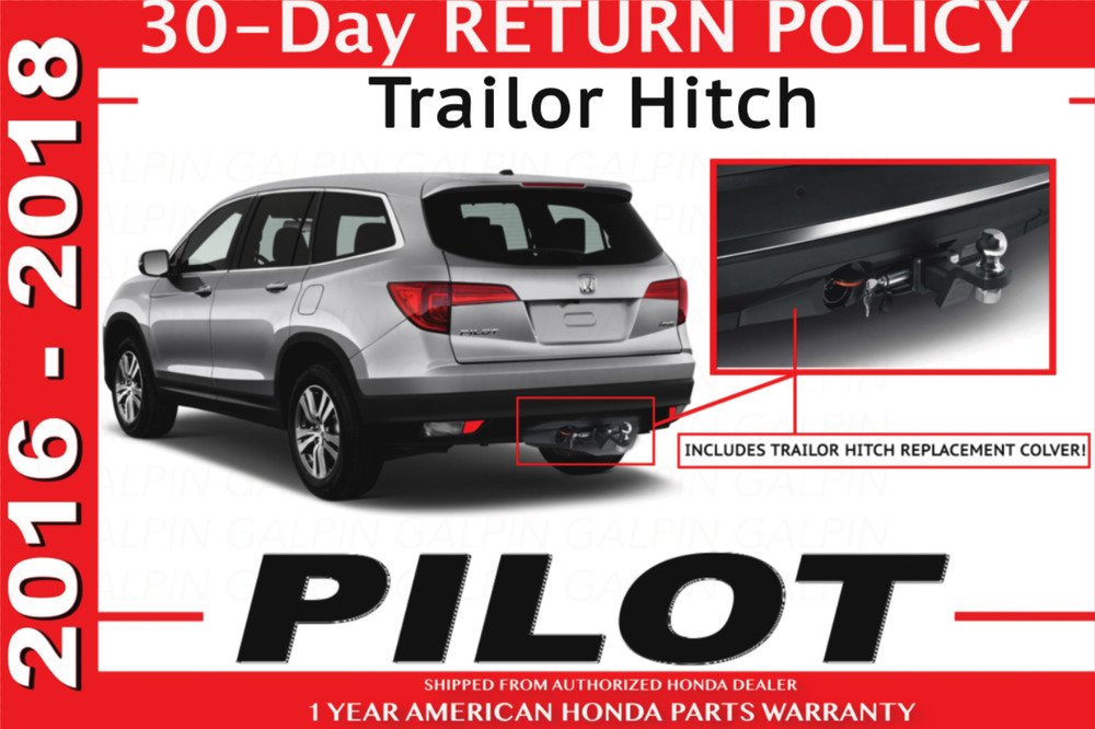 genuine oem honda pilot trailer hitch 2016 08l92 tg7 100 ebay. Black Bedroom Furniture Sets. Home Design Ideas