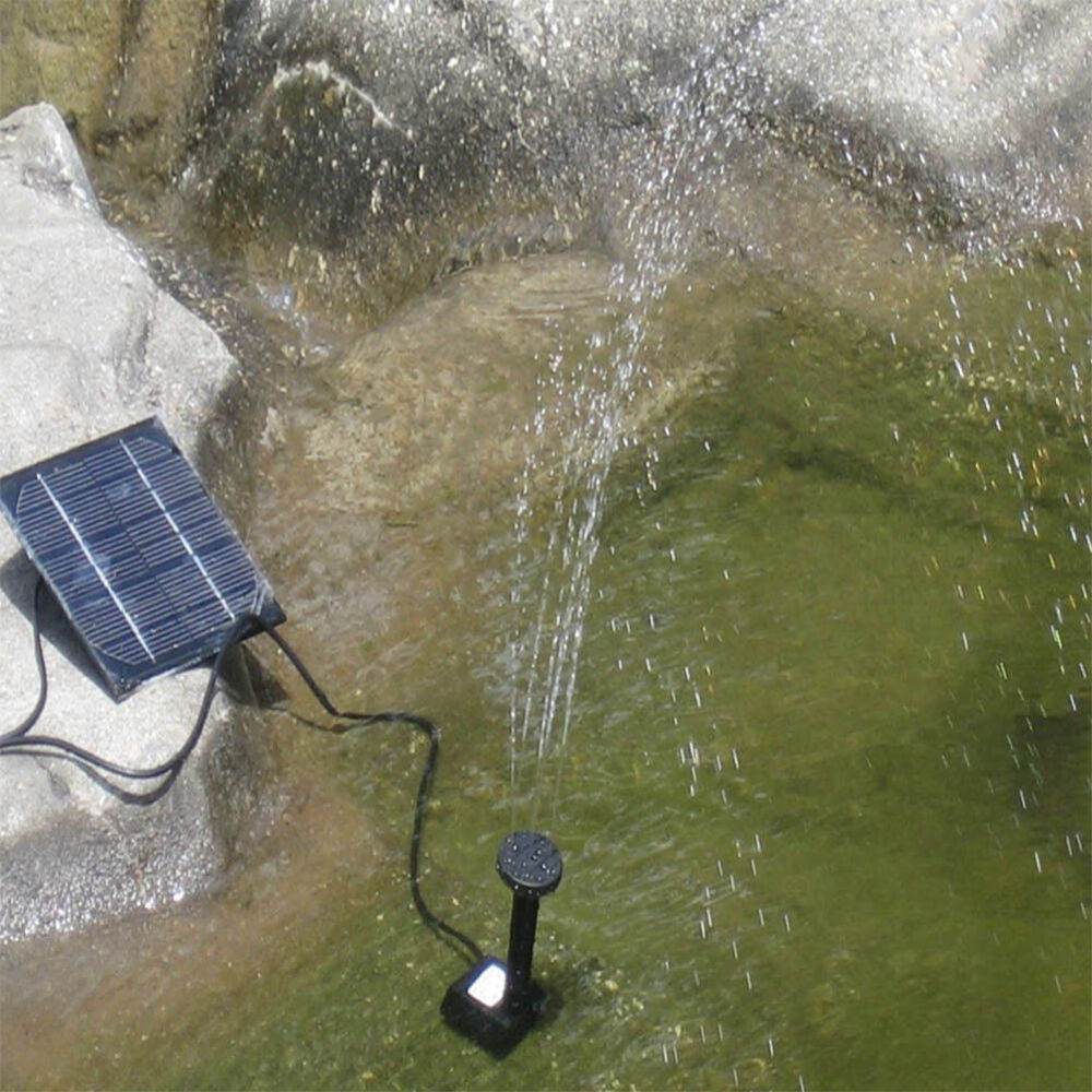 Solar power water pump garden fountain pool plant watering for Solar water pump pond