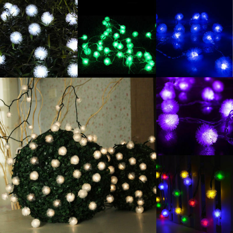 5m 20 leds schneeball solar led lichterkette au en kette blau warmwei bunt neu ebay. Black Bedroom Furniture Sets. Home Design Ideas
