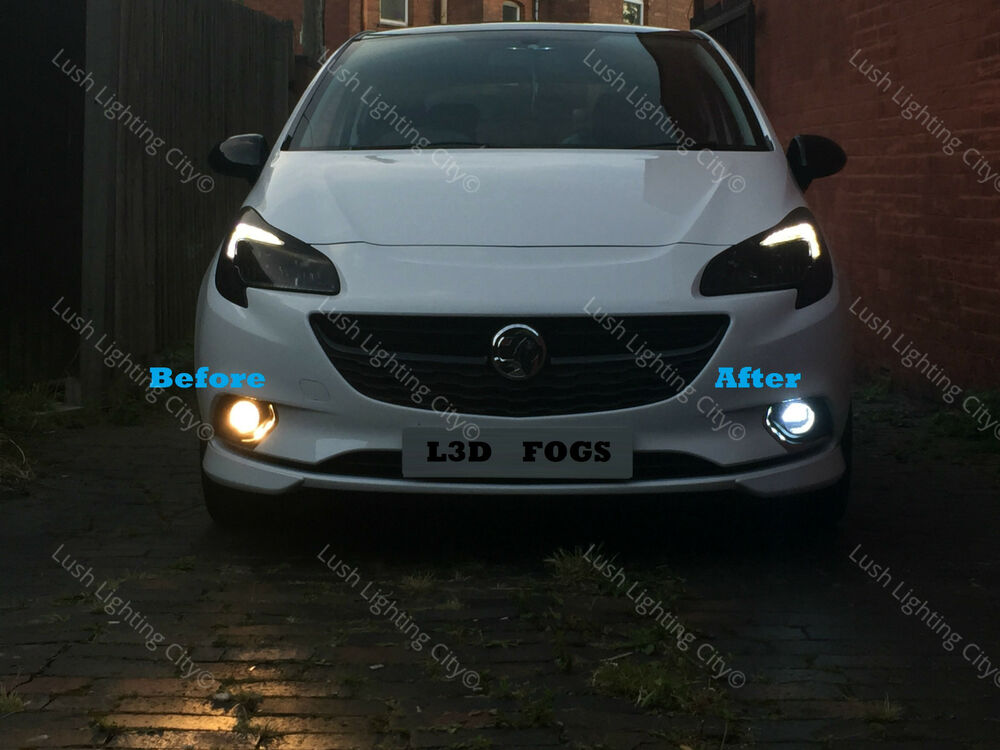 Vauxhall Corsa E Led Fog Light Led Bulbs Canbus Error Free