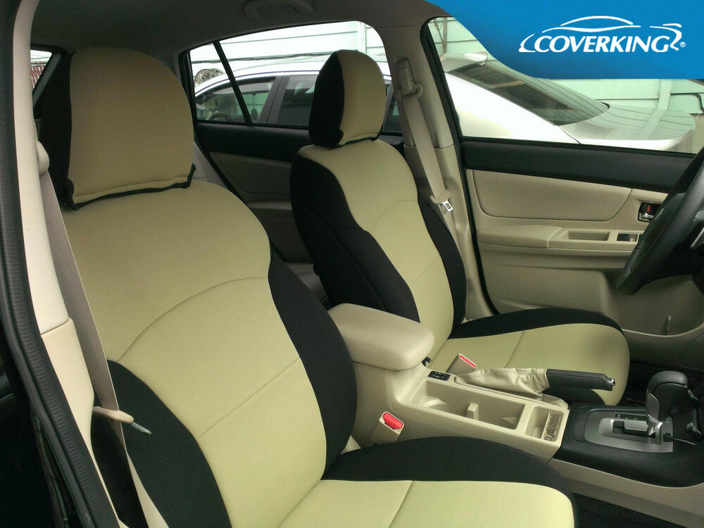 subaru forester coverking neosupreme custom fit front seat covers ebay. Black Bedroom Furniture Sets. Home Design Ideas