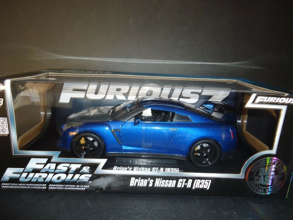 Jada Nissan GT-R R35 Brian's Car Fast and Furious 7 1/18 ...