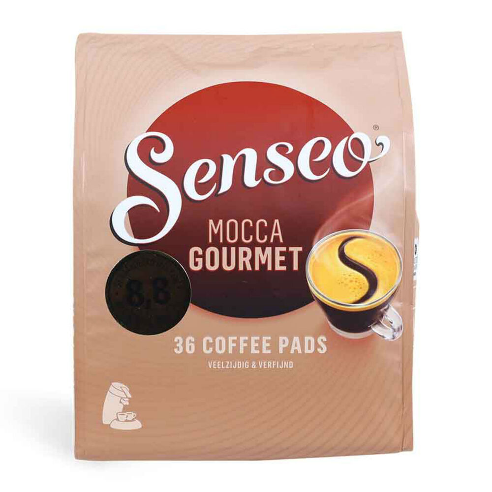 senseo douwe egberts mocca gourmet coffee pads 5 packs of 36 coffee 180 pods ebay. Black Bedroom Furniture Sets. Home Design Ideas
