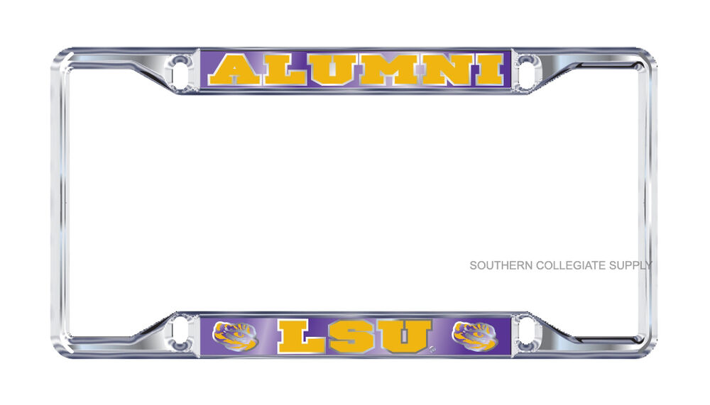 Lsu Tigers Quot Alumni Quot Mirrored Chrome License Plate Tag