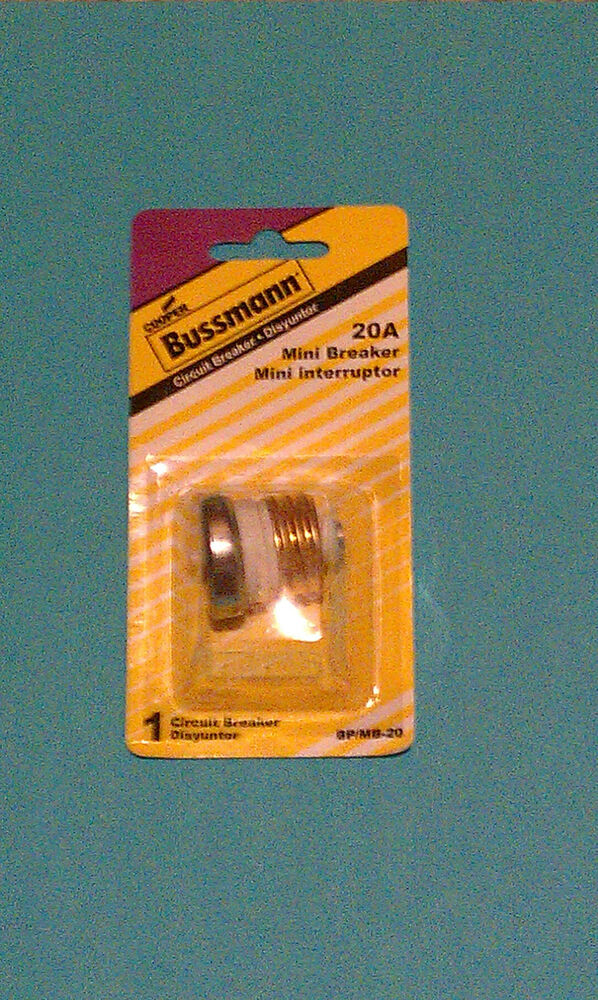 bussmann 20 amp mini breaker circuit house fuse edison ... blown fuse circuit breaker box #1