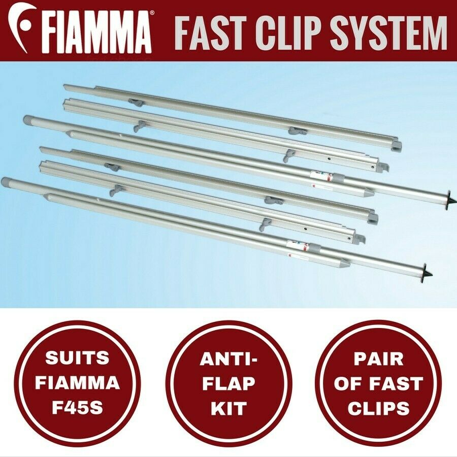 Fiamma Fast Clip System Suits F45 Awning Anti Flap Kit