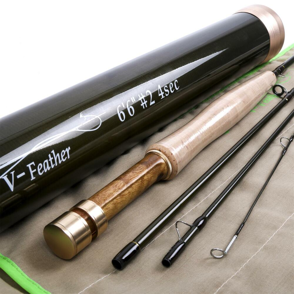 Fly Rod 6.6FT 2Weight 4Section Medium Fast Fly Fishing Rod & Carbon ... Fly Fishing Rods