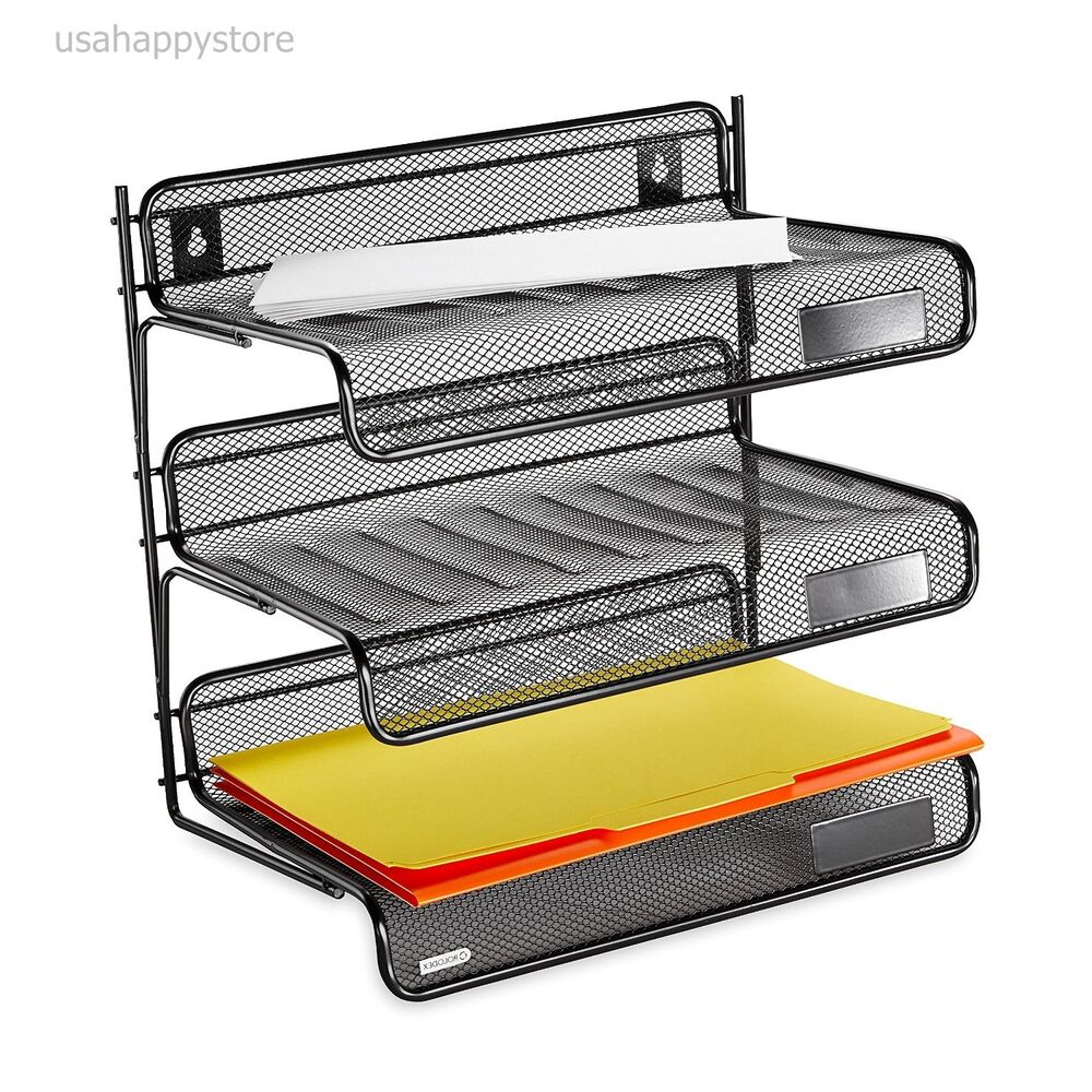 desk organizer shelf rolodex desk shelf organizer 3 tier plastic storage tray 14685