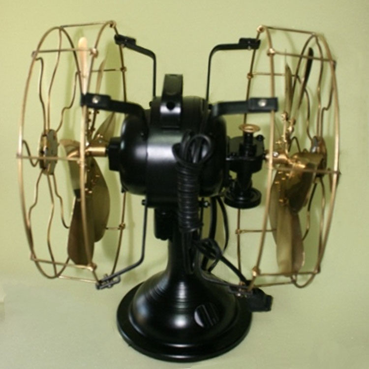 History About The Electric Fan : Fan electric table vintage fans blade metal brass
