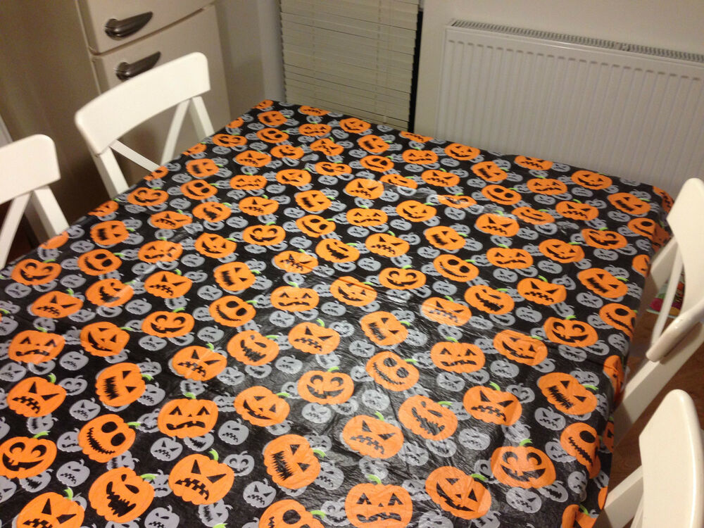 Halloween Pumpkin Table Cloth Cover Tablecloth Parties