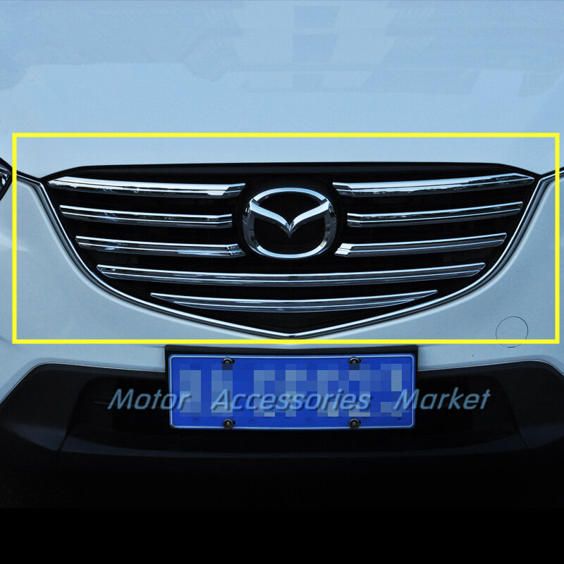 New Chrome Front Grille Grill Cover Trim For Mazda Cx 5 Cx5 2015 2016 Ebay