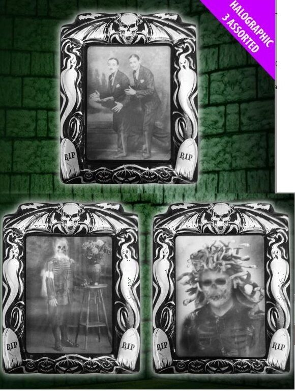 Decorating Ideas > 1x HOLOGRAPHIC PICTURES HALLOWEEN IN PICTURE FRAMES PHOTOS  ~ 084731_Halloween Door Hologram