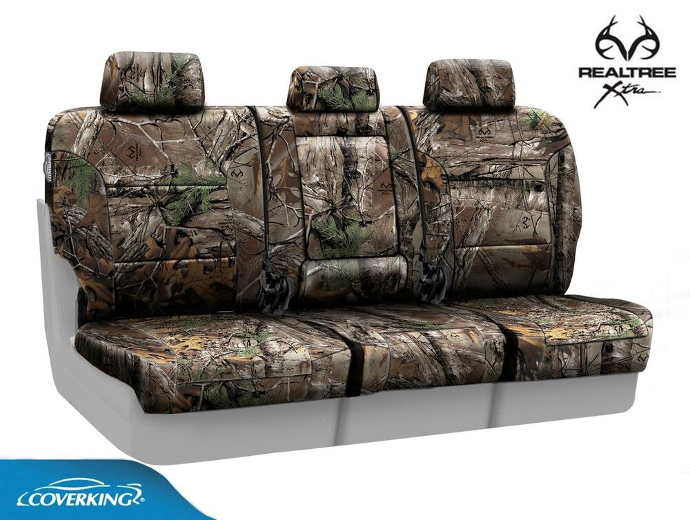 coverking realtree xtra camo rear custom seat covers for