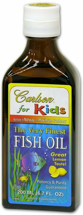 Very finest liquid fish oil for kids carlson 200 ml for Carlson fish oil liquid