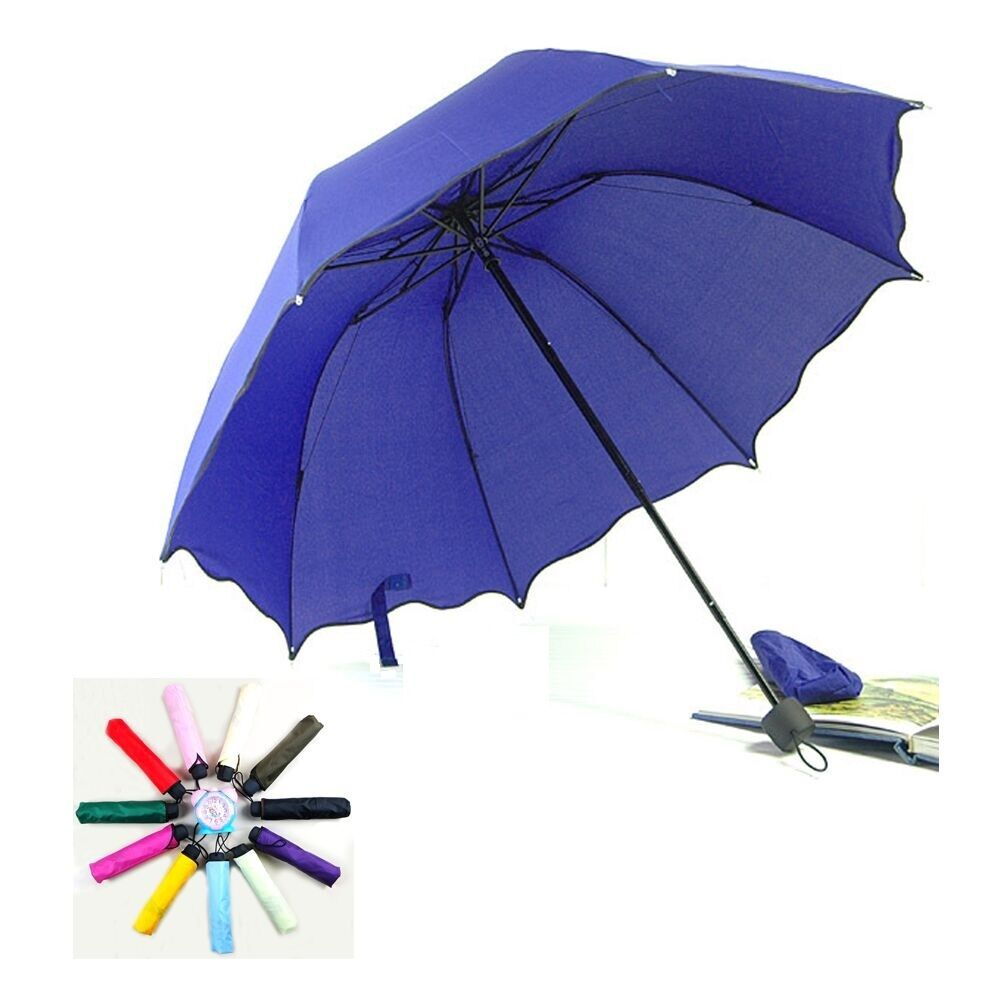 folding windproof anti uv clear rain compact parasol. Black Bedroom Furniture Sets. Home Design Ideas