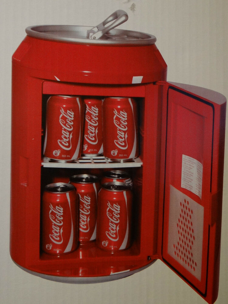 Soda Can Cooler ~ Coca cola portable coke soda can mini refrigerator cooler