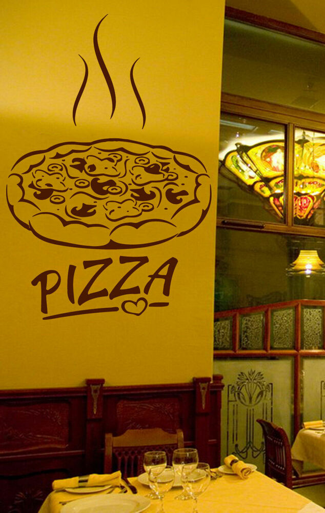 Ik wall decal sticker pizza italian restaurant