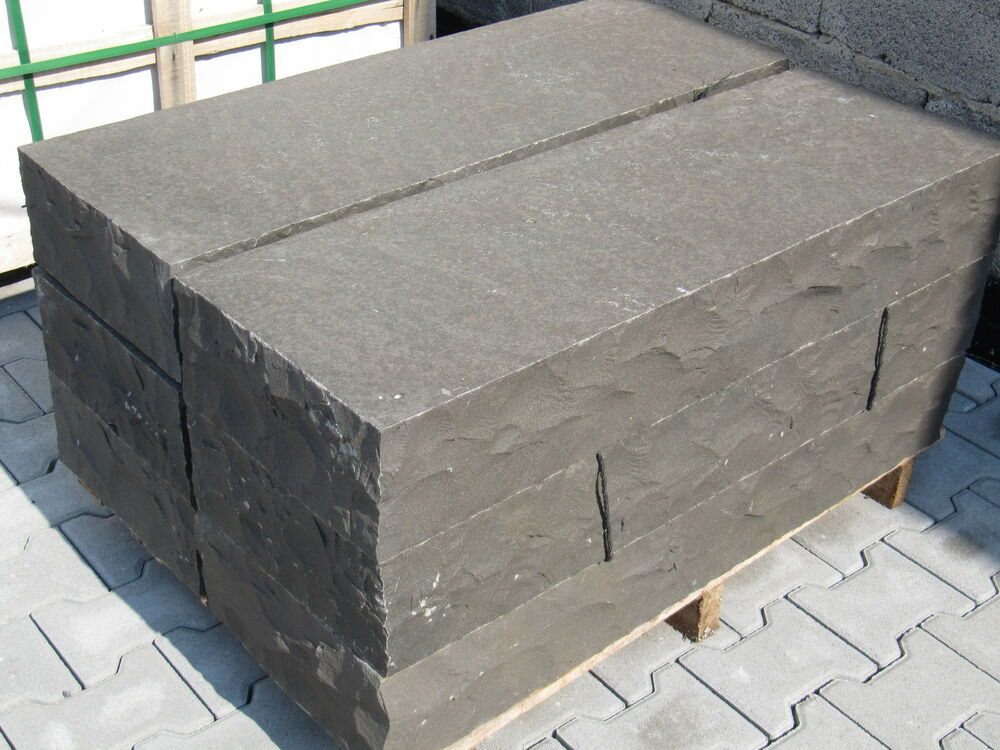 basalt blockstufen treppen stufen tritt frostsicher geflammt 50x35x15cm ebay. Black Bedroom Furniture Sets. Home Design Ideas