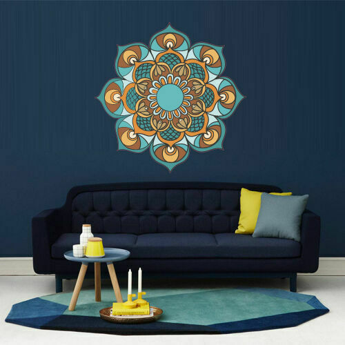 Full Color Wall Decal Mandala Model Map Ornament Star ...