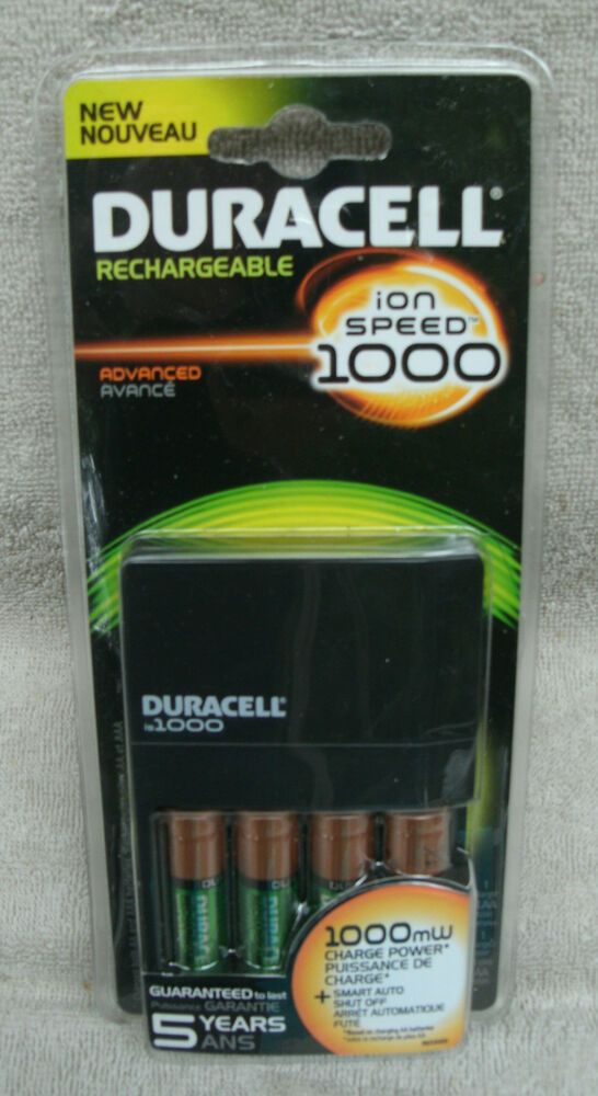 duracell ion speed 1000 nimh aa aaa battery charger new. Black Bedroom Furniture Sets. Home Design Ideas