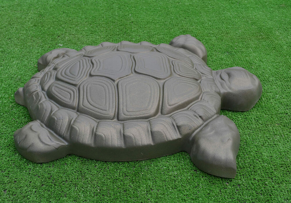 concrete mold 3d turtle tortle stone decor garden pond