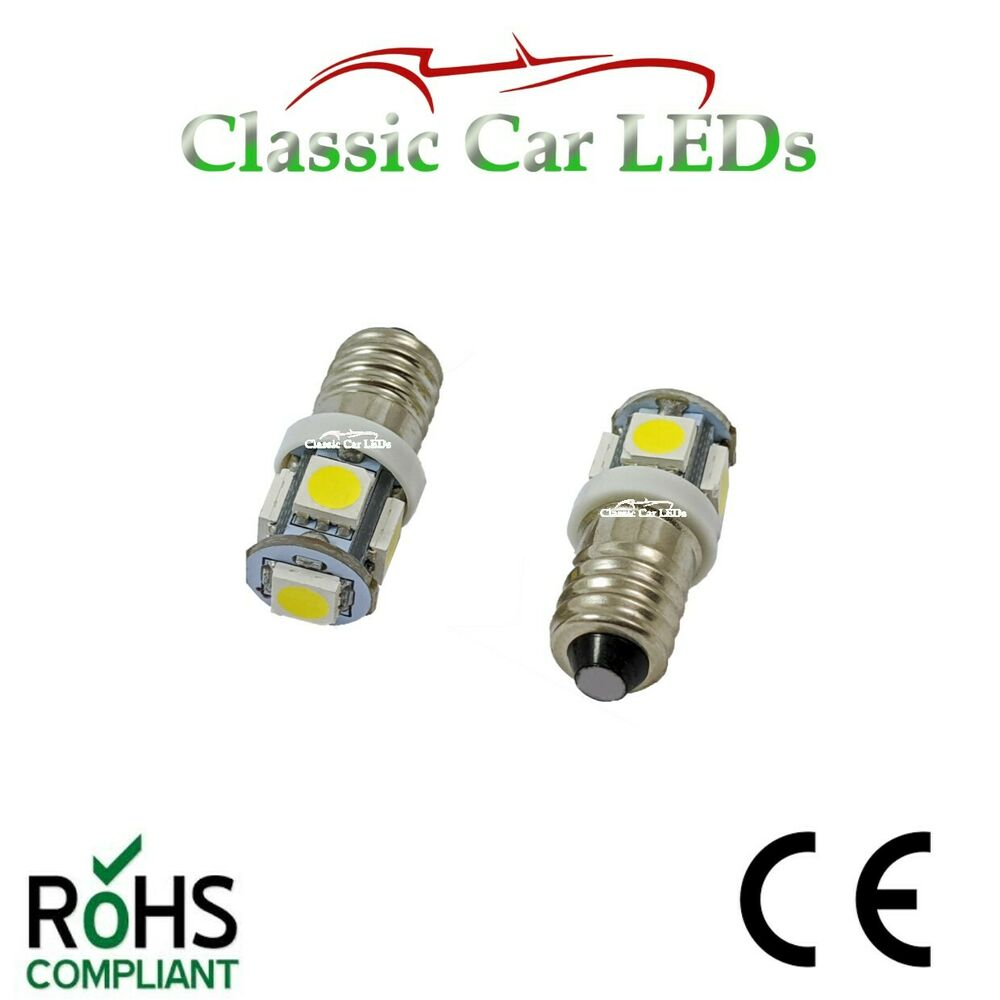 2x 6v led lamp e10 screw 6 volt xenon white bicycle torch no polarity e10 mes ebay. Black Bedroom Furniture Sets. Home Design Ideas