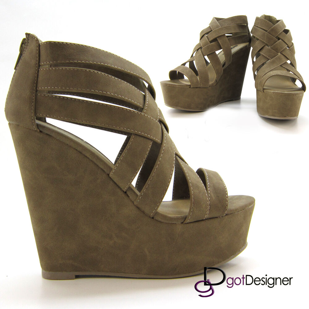 Women Fashion Shoes High Platform Wedges Heels Party ...