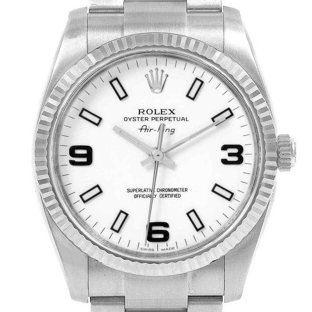 Rolex Air King Oyster Perpetual Stainless Steel Amp 18kt
